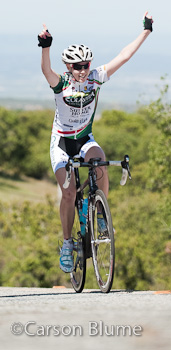 Tiffany Cromwell (Colavita Sutter Home) solos for the win at the Sea Otter Classic Road Race.