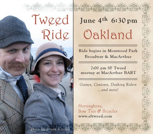 East Bay Tweed Ride, June 4th (photo by Bryan Kiechle).